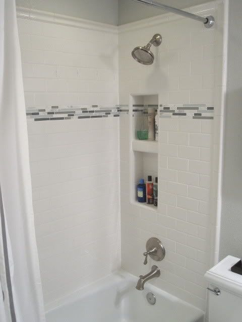 sheet tile for showers. floor tile trim on shower walls  Google Search 34 best wall images Pinterest