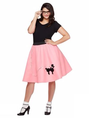 50s Poodle Skirt Plus Size Costume