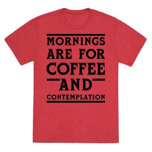 Mornings are not for questions. Mornings are for coffee and contemplation. Channel your inner Chief Hopper with this funny quote coffee shirt.