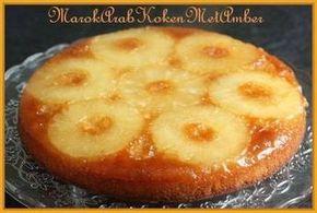 Heerlijke ananas-taart. Tip: sausje erbij van ananassiroop, limoensap, kokosmelk en wat fijn gesneden muntblaadjes.