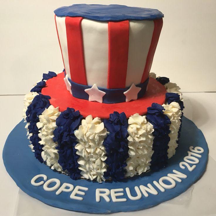Family Reunion Patriotic Cake
