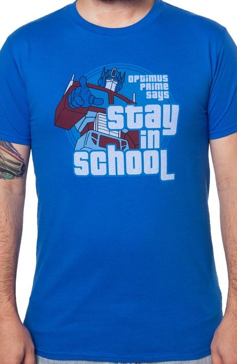 Optimus Prime Stay In School T-Shirt