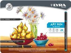Lyra Hi-Quality Art Pen viltstiften, assortiment 20 st