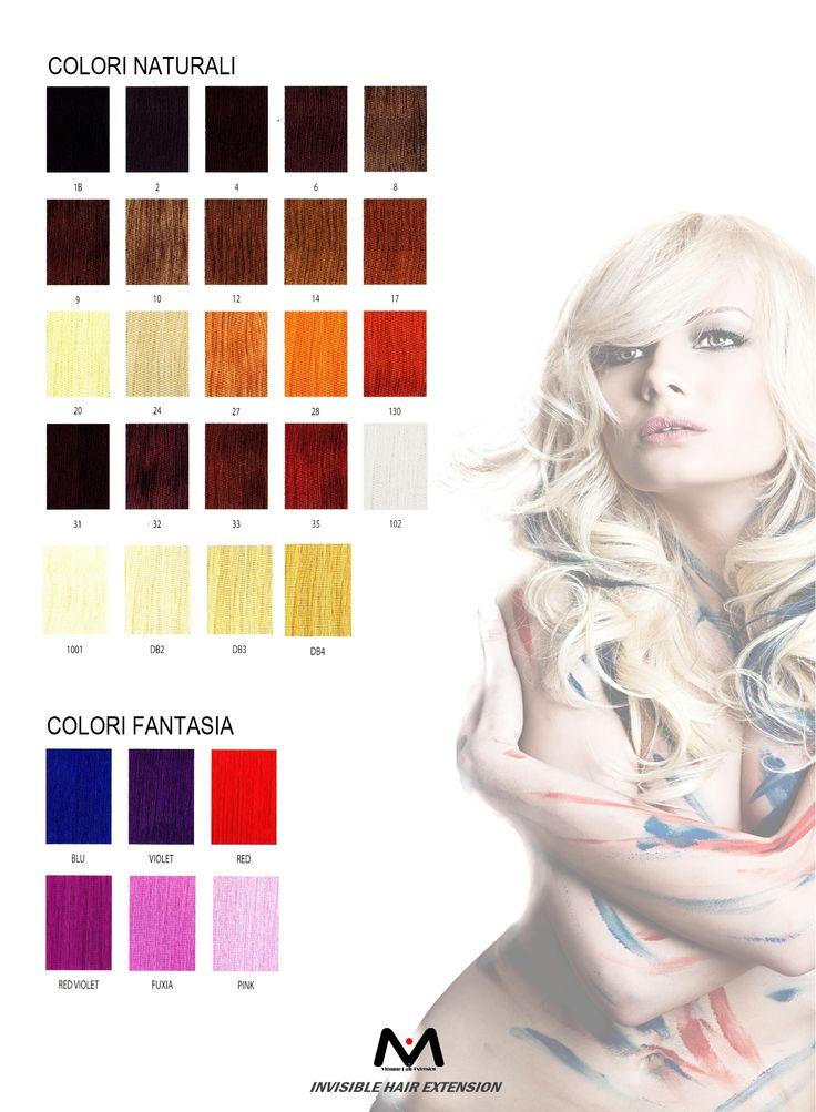 Gamma di colori #viemmehairextension #hair #extension #fashionstyle www.viemmehairextension.com