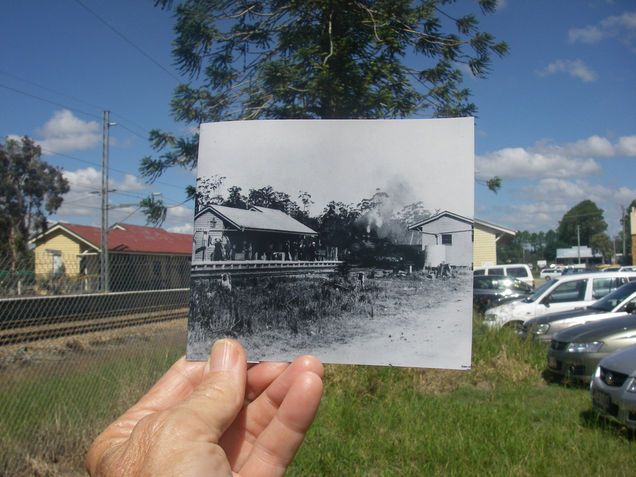 Now and Then Cooroy Railway Station by Dimay22