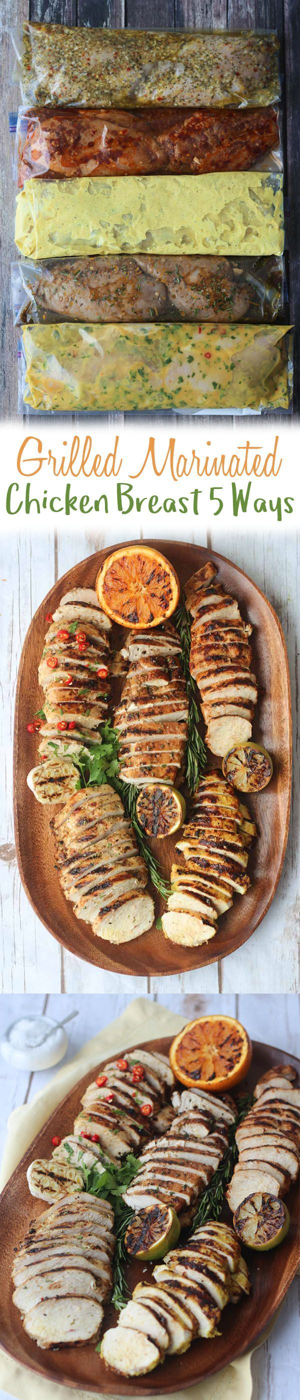 5 Grilled Marinated Chicken Breast Recipes will become your life saver during those busy week nights.