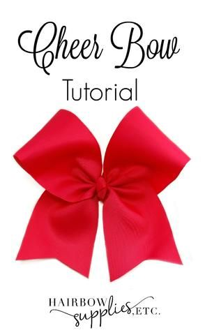 How to Make a Cheer Bow Video