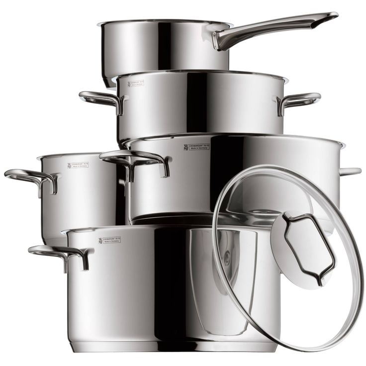 149 Consisting of a low casserole, a high casserole and a saucepan, this WMF set is a great basic set of versatile cookware. The low casserole is perfect for delicious stews and juicy roulades. The high casserole is ideal for anything that needs more liquid for cooking. Pasta, potatoes and dumplings are no problem for this capacious pot, which is even roomy enough for large vegetables like cauliflower. The saucepan is ideal for small quantities, for heating milk and soups, for reducing…