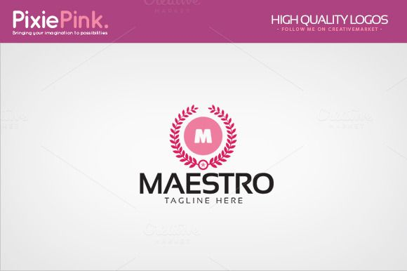 Maestro Logo Template by PixiePink on @creativemarket