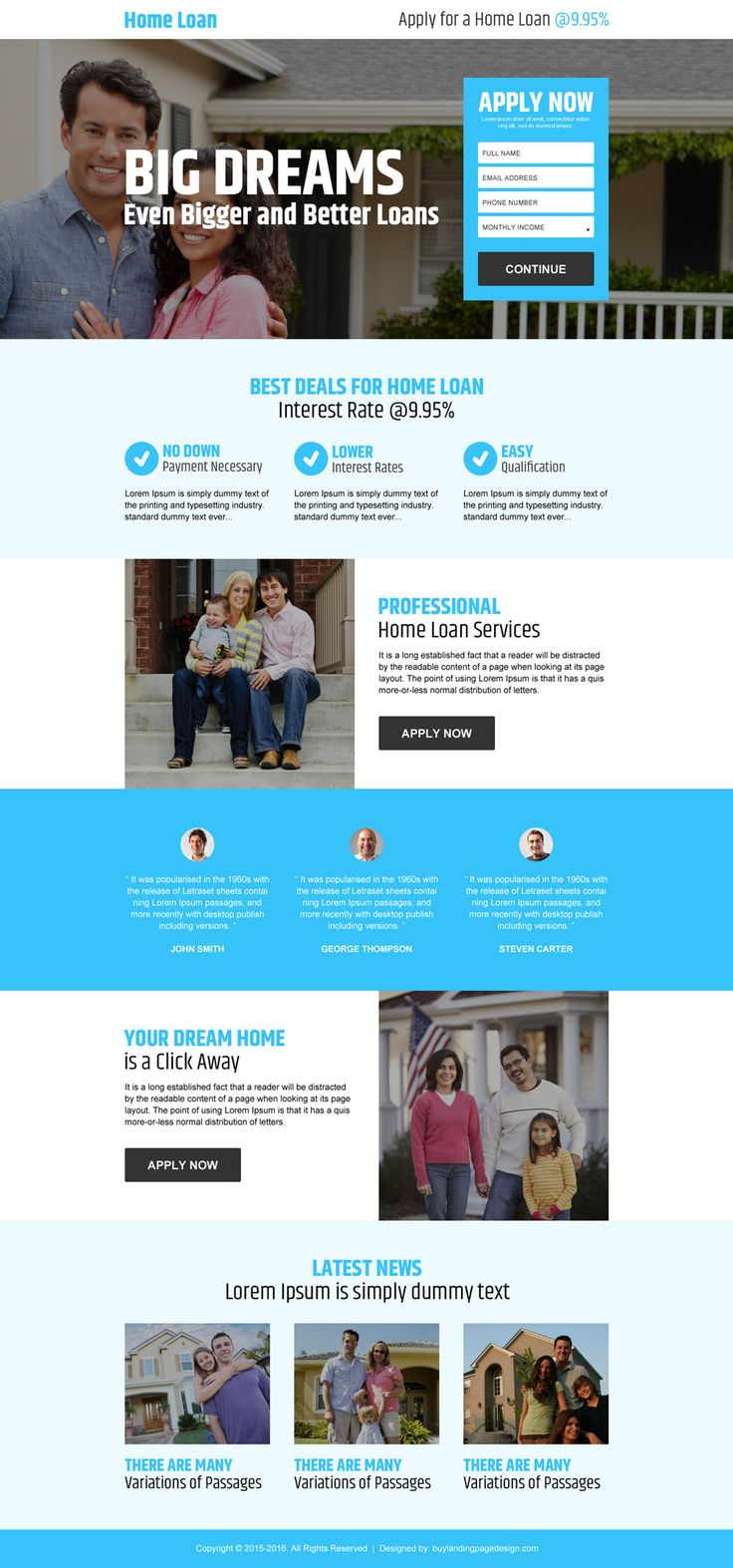 23 best home loan landing page design images on Pinterest | Lp ...