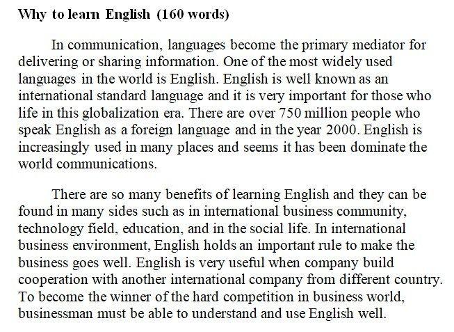 تعبير عن لماذا نتعلم اللغة الانجليزية باللغة الانجليزية Learn English Words Communication