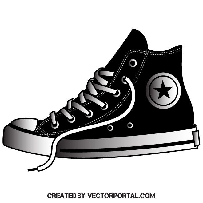 Athletic sneakers vector image Sneakers, Vector art design  Sneakers, Vector art design
