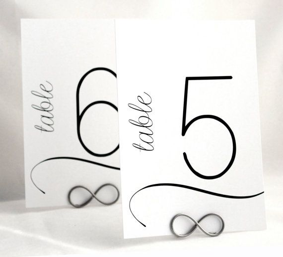 Modern Table Number Cards for Wedding by WeddingMonograms on Etsy, $2.50