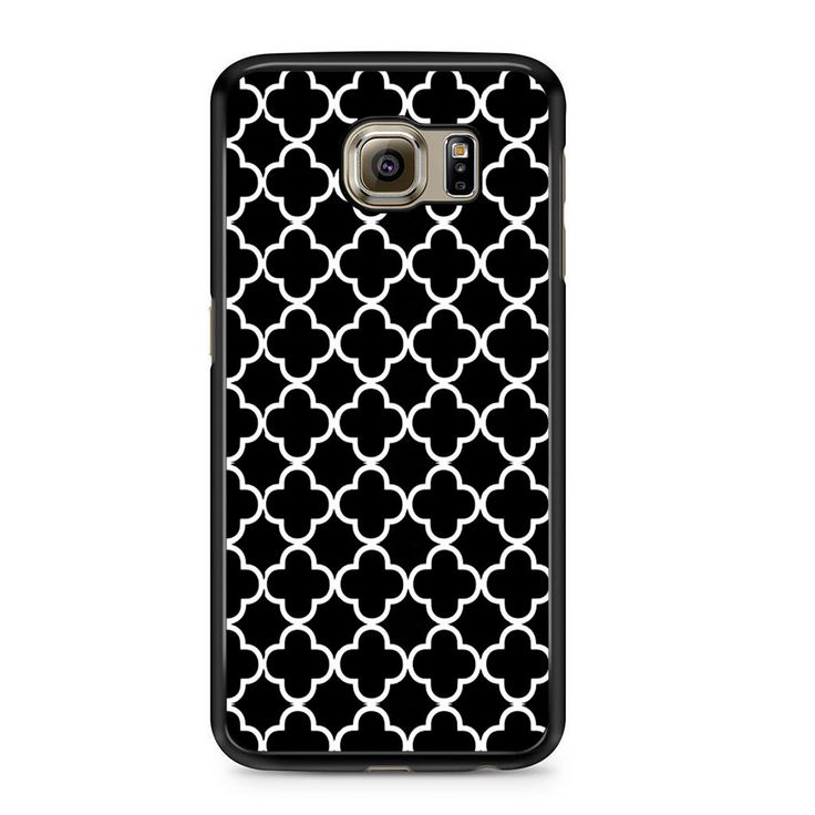 Black And White Quatrefoil Pattern Samsung Galaxy S6 Case
