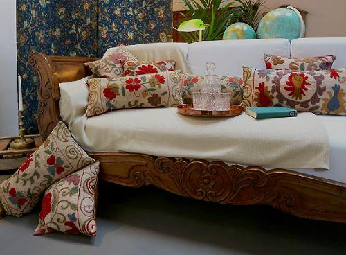 Schulze London interior design. #interior #design #cushion #collection #home #antique #embroider #romantic #elegant #globe #deco