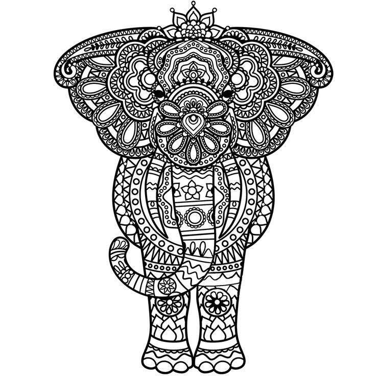 Free zentangle elephant coloring pages ~ 324 best Adult Colouring~Elephants~Zentangles images on ...