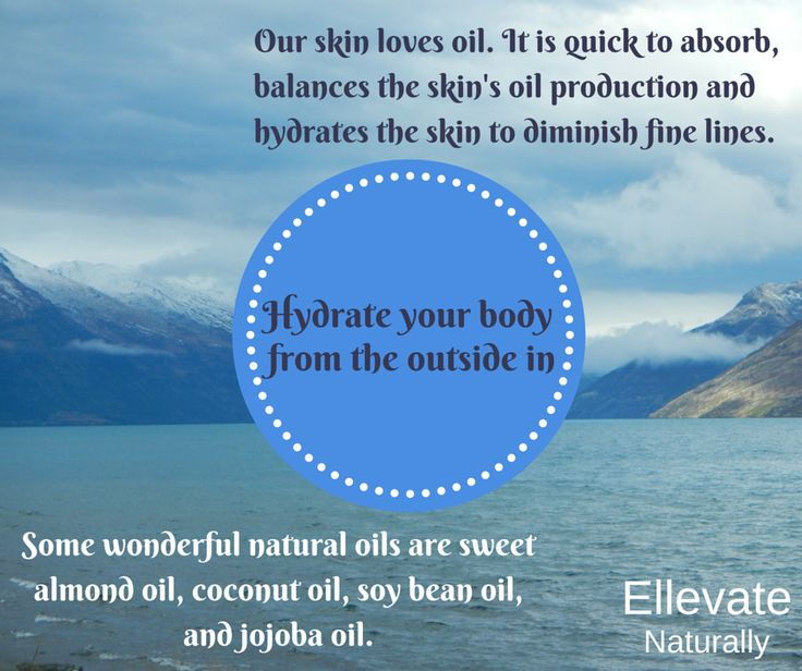 Hydrate your body from the outside in. https://www.facebook.com/ellevatenaturally/photos/a.512672888762584.128986.512666322096574/943348329028369/?type=1&theater