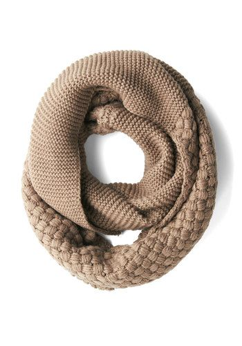 Tricot d'hiver. Textured circle scarf #fallmusthave