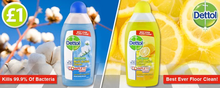 Dettol Multi Action Cleaners on sale now for only £1, which one will you choose...Fresh Cotton Breeze or Citrus Zest? www.poundshop.com/home-garden/household/cleaning