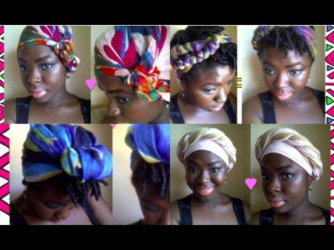 Headwraps - How to tie headwraps in a multitude of different ways  YoutTube Video by WomanInTheJungle