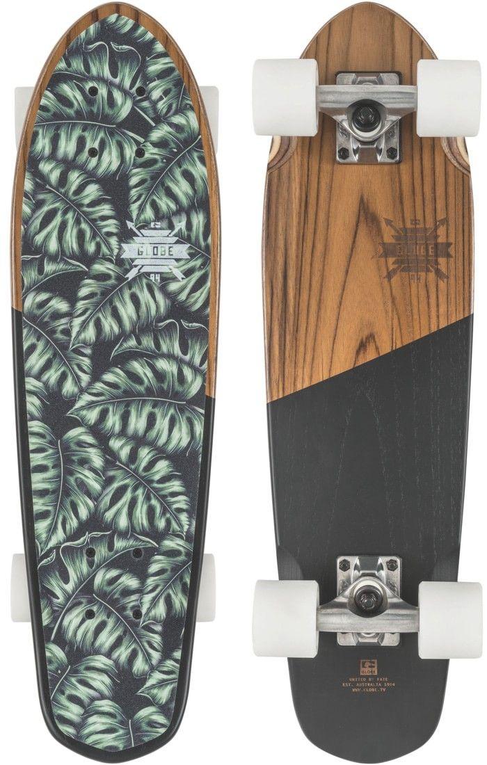 "Globe Blazer Teak 26"" Cruiser Complete Skateboard - teak/monstera - Free Shipping"