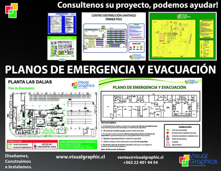 planos de emergencia y evacuación. www.visualgraphic.cl visitenos!