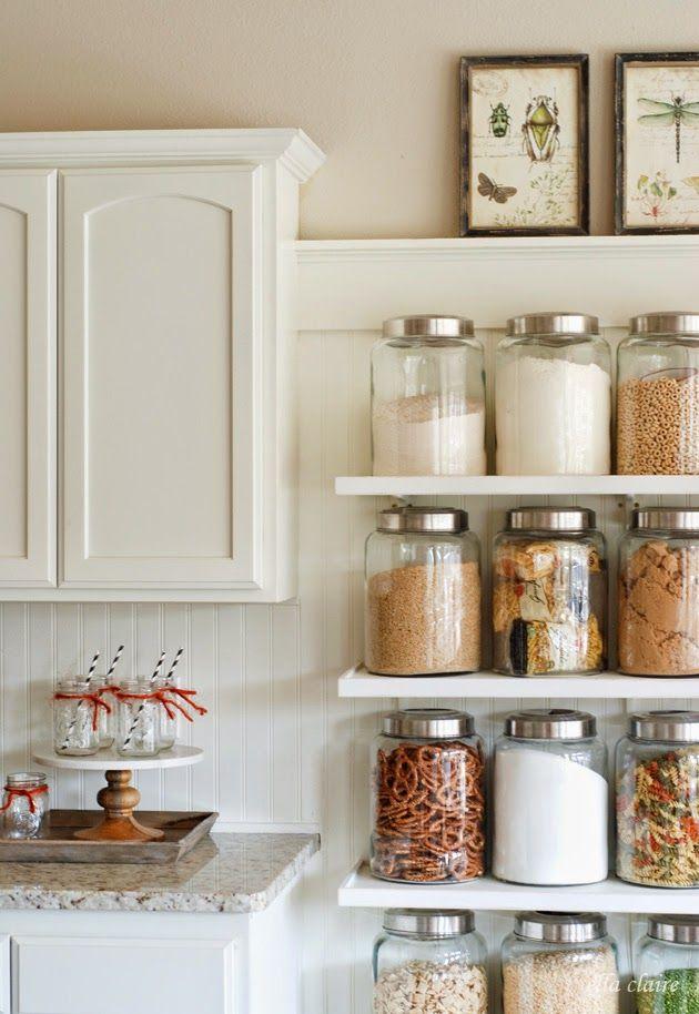 Fall Home Tour via Ella Claire featuring Cost Plus World Market's Large Glass Kitchen Jars >> #WorldMarket Kitchen Decor, Home Decor, Tips