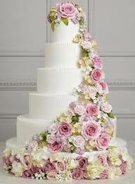 Bolos de noiva decorados com flores -  bolo noiva branco com flores