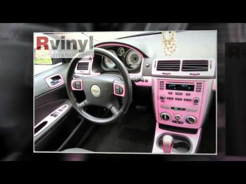 http://www.rvinyl.com/Dash-Kits-Chevrolet-Cobalt.html|Customer rebate photos of the Chevy Cobalt dash kit in Pink. Dash kits from Rvinyl are available in dozens of finishes form carbon fiber to wood grain to metallic films to solid colors. Yours from $39.99!