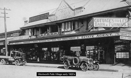 Wentworth Falls village shops, early 1920s