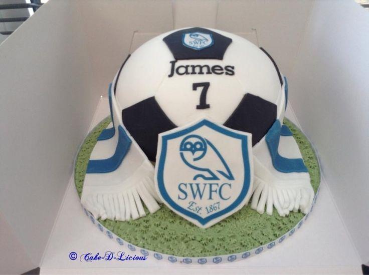 Sheffield Wednesday Football Cake - Cake by Cake-D-Licious