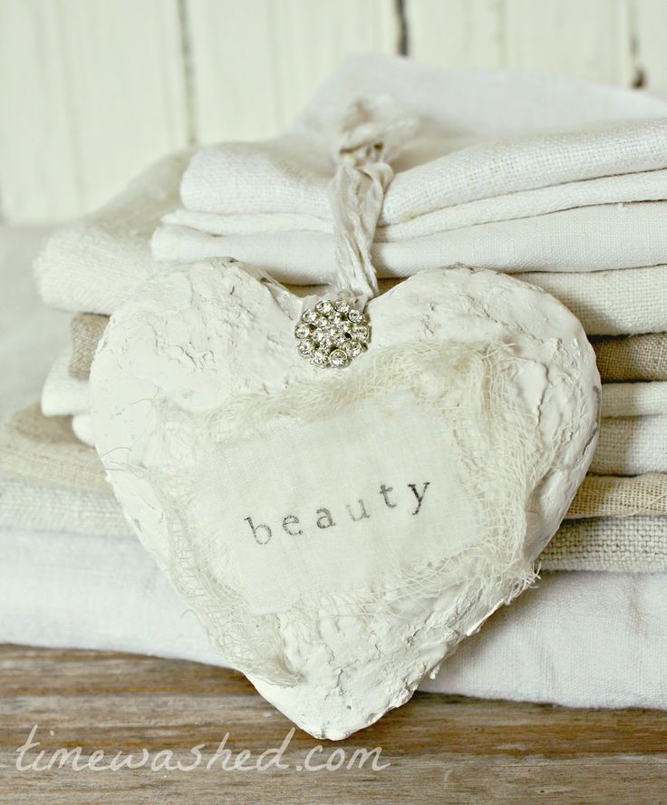 plaster heart from Timewashed