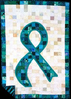 Since its 2002 inception, the Ovarian Cancer #Quilt Project at MD Anderson has educated the public about the risk factors and symptoms of ovarian cancer through the artistry of quilting. The teal ribbon quilt block has been the hallmark of the project.