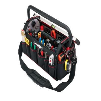 Husky 20 in. Pro Tool Bag with Pull Out Tray-88582N13 - The Home Depot