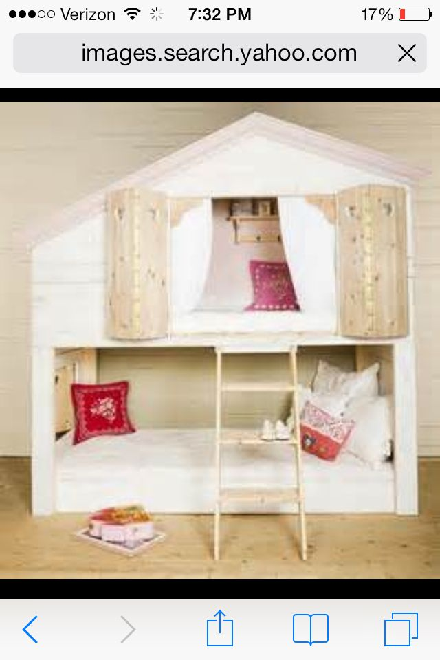 Cute girls bunk beds girls rooms pinterest for Cute bunk bed rooms