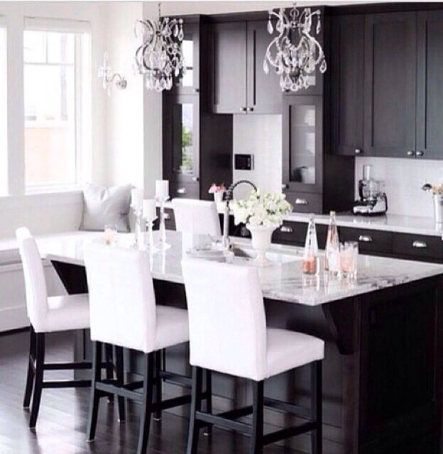 Dark And Light Kitchen Cabinets Together: 31 Best Dark Cabinets W/light Or Dark Floor? Images On