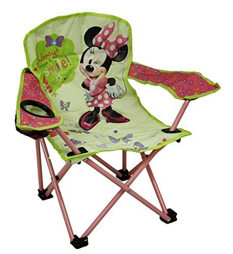 Kids' Folding Chairs - Disney Kids Minnie Bowtique Camp Chair * Want to know more, click on the image.