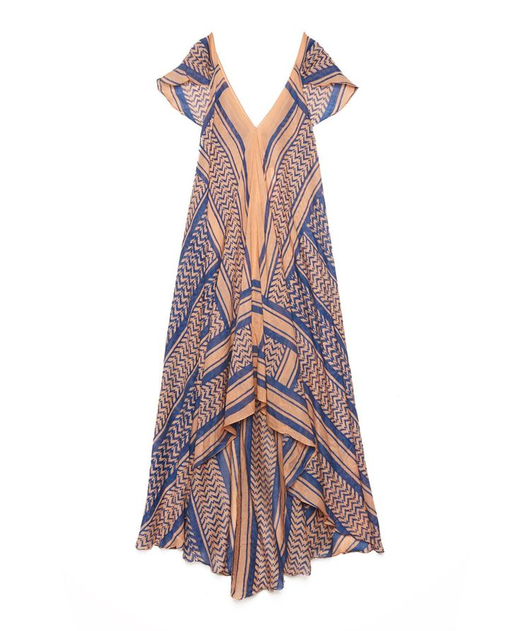 block-printed silk dress