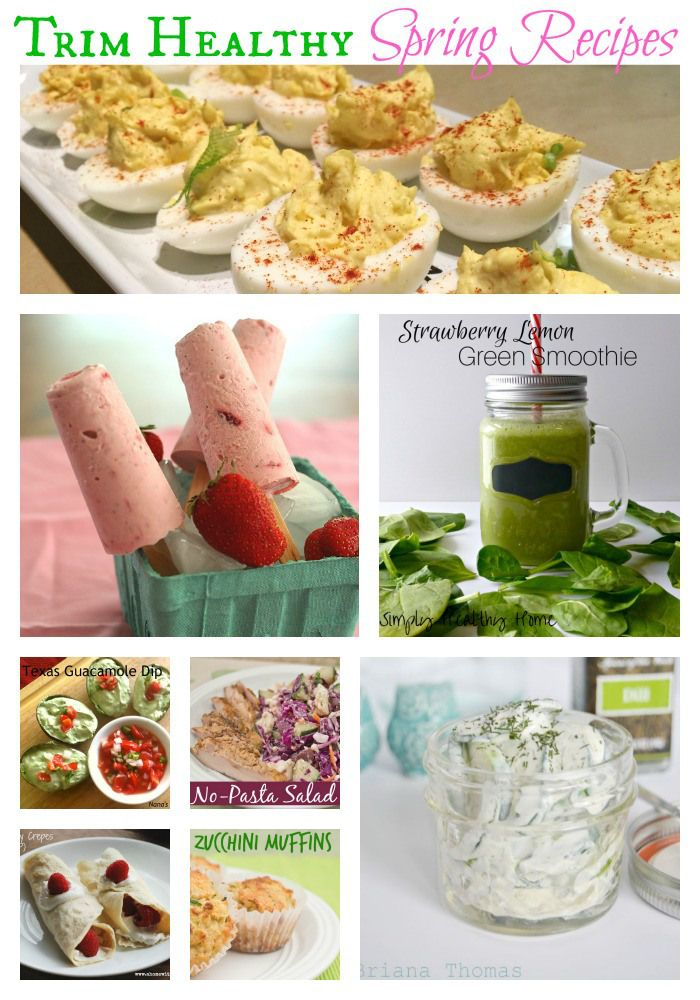 Trim Healthy Spring Recipe Roundup on thecoersfamily.com