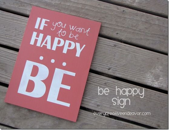 Love this saying on this cute sign. I am so happy and so blessed!  After soon-to- be 29 yrs of wedded bliss, I remain happy BEcause I BEcame Mrs. BEebe.  :)