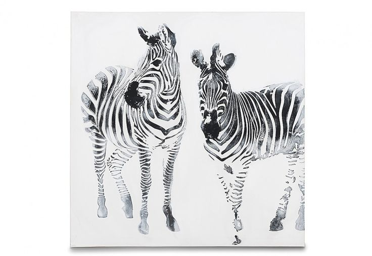 EYE-CATCHING AND BOLD, this zebra print provided the initial starting-point for my safari decorating adventure and influenced my choice of black and white as the main colours. Stripes Canvas 100cm x 100cm   Super Amart