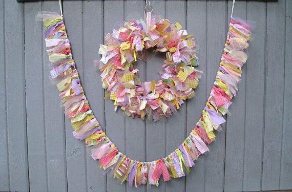Newborn Baby Girl Wreath Baby Door Wreath Baby by AWorkofHeartSA, $70.00