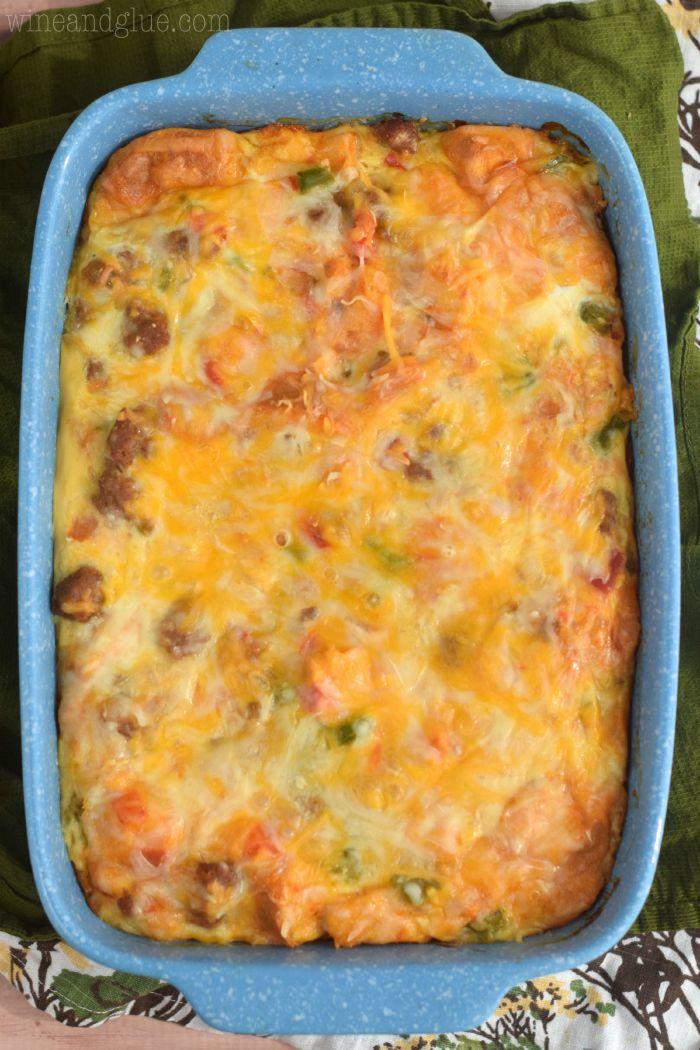 Easy Cheesy Southwestern #Breakfast Casserole Recipe