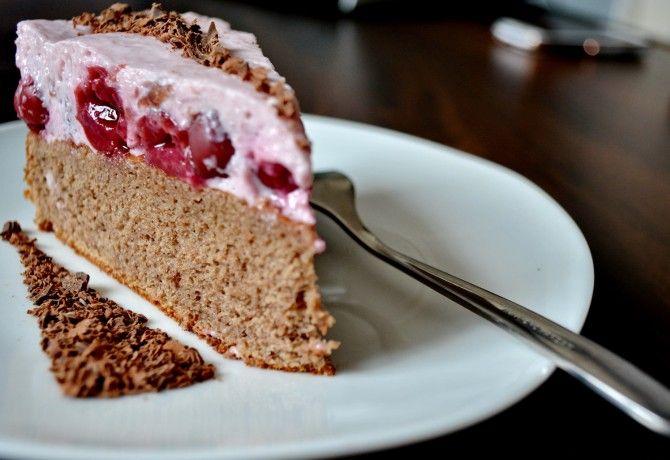Meggyes-joghurtos-diétás sütemény