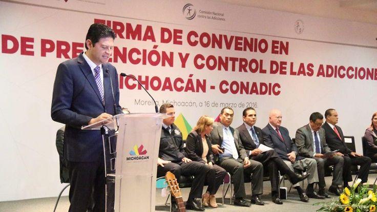 El alcalde de Morelia asistió a la Firma de Convenio en materia de Prevención y Control de las Adicciones entre el Gobierno de Michoacán y el Consejo Nacional contra las ...