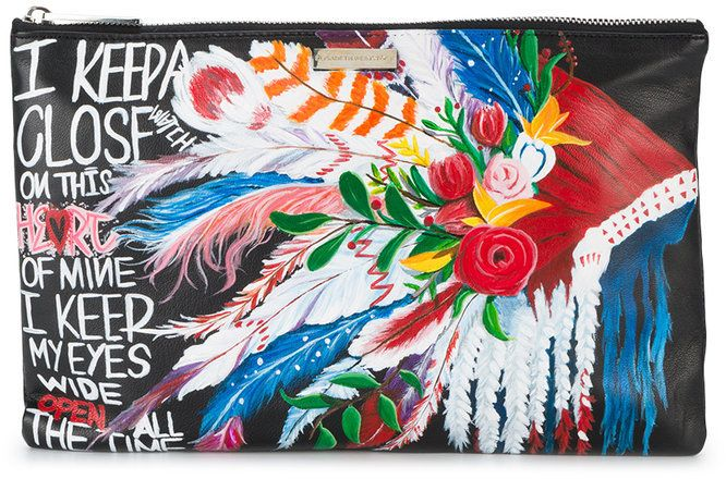 For Cheap Price Buy Cheap Get Authentic Elisabeth Weinstock Harbor Island hand painted pouch Enjoy Online J7Mmx