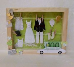 Geldgeschenk zur Hochzeit: Hochzeitsvitrine