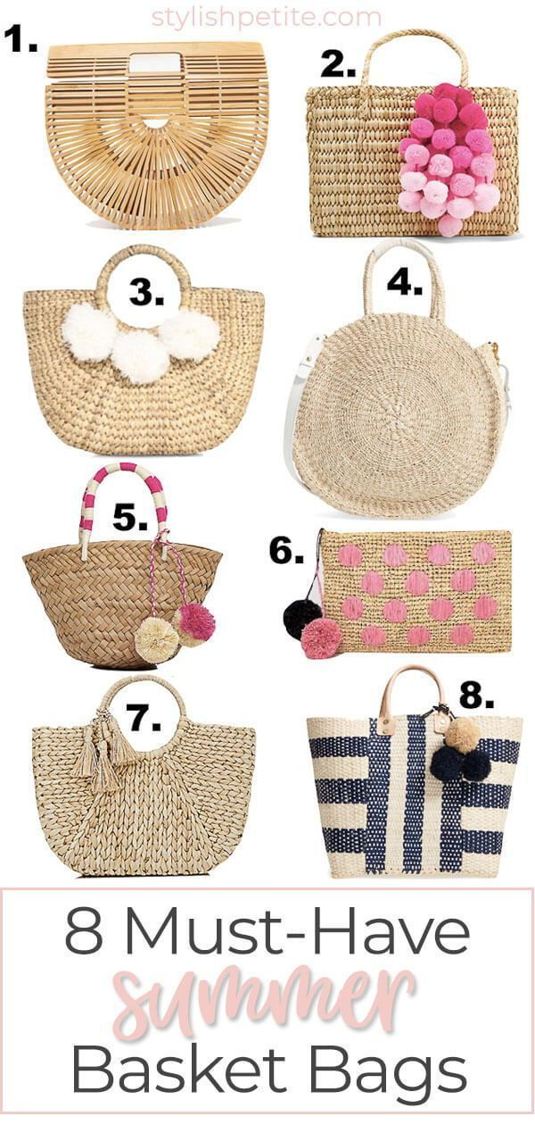 Must-have summer basket bags! Buy these now! Perfect guide for summer 2019!