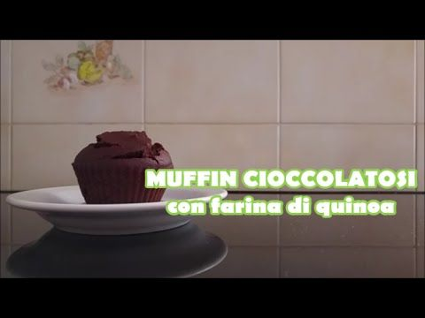 Muffin cioccolatosi con farina di quinoa, senza burro (in 3 minuti) - YouTube