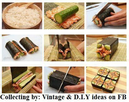 make sushi at home!! It's easier than you think!